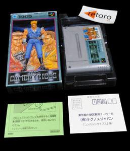 THE-COMBATRIBES-Super-Famicom-Nintendo-SNES-SFC-Japones-Technos-No-manual