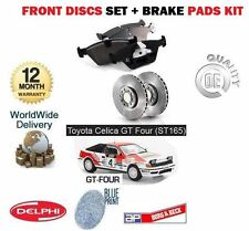 FOR TOYOTA CELICA GT4 & IMPORT ST165 1988-1990 FRONT BRAKE DISCS SET & PADS KIT