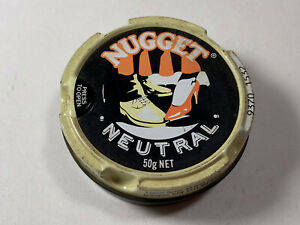 Vintage Tin Lithographed Nugget Neutral Shoe Can from Australia