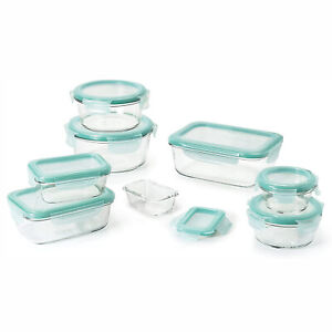 OXO Good Grips 14 Piece Clear Glass Bake, Serve, and Food Storage Set with Lids