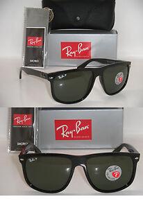 a14067504e Ray-Ban Flat Top Boyfriend black Frame   Green polarized RB 4147 601 ...