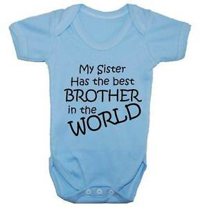 9a2d6ae29b Image is loading Worlds-Best-Brother-Babygrow-Bodysuit-Romper-Vest-T-