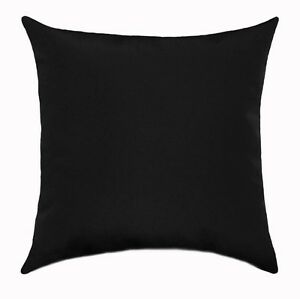 Plain Black Throw Pillow : Premier Prints Solid Black Lumbar or Square Decorative Throw Pillow eBay