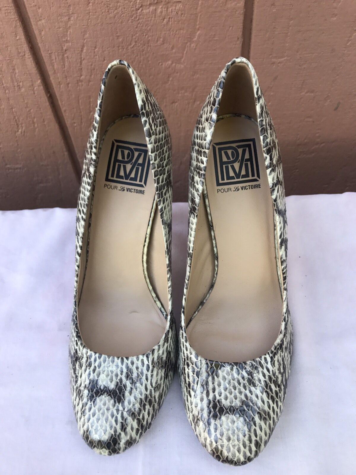 POUR LE VICTOIRE VICTOIRE VICTOIRE  195 MULTI-Couleur SNAKESKIN PUMPS US 7.5 B CLASSIC HEELS chaussures ce9e3a