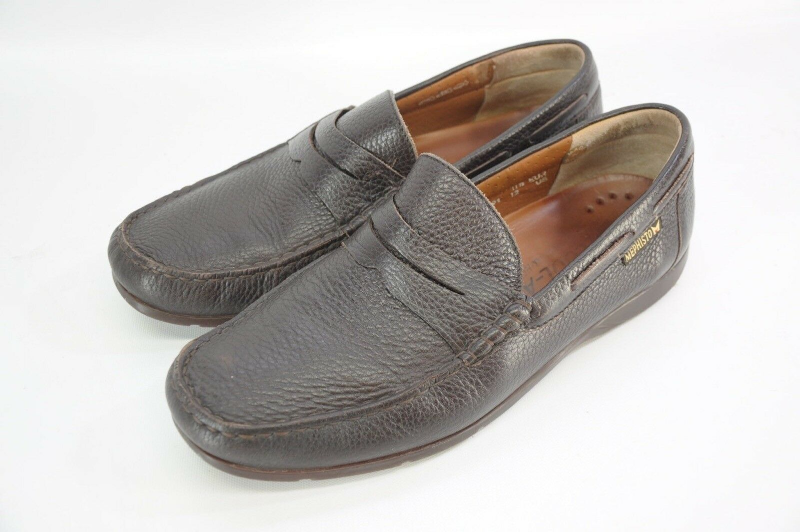 Scarpe casual da uomo  Mephisto Spinnaker Air Relax Slip On Penny Loafer Brown Leather Shoes France 12