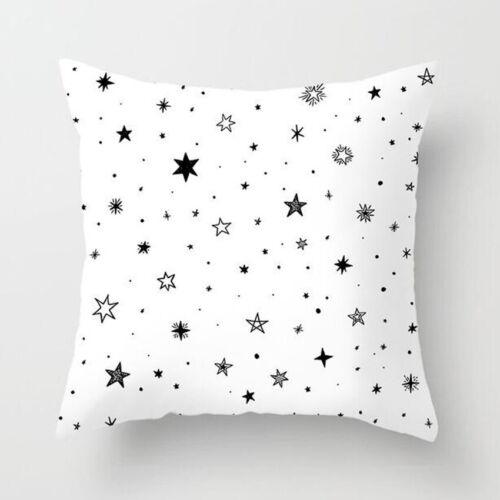 1PC Black White Geometric Throw Cover Pillow Cushion Square Case Decor Dazzling