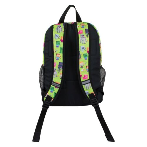 """JINX Minecraft Sprites Kids Backpack 16.5/"""" w// Matching Insulated Lunch Box NWT"""