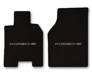 1986 1991 Porsche 944 2pc Black Carpet Floor Mats With