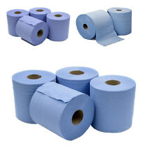 6 x Jumbo Workshop Hand Towels Rolls 2 Ply Centre Feed Wipes Embossed Tissue
