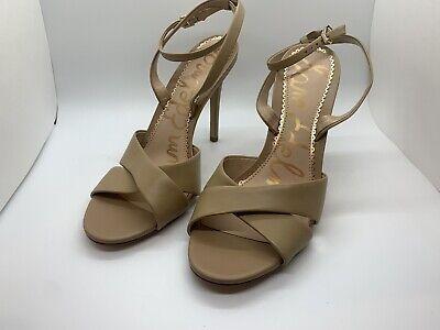 Sam Edelman Womens Ariella Sandals  Nude Patent Leather Size 10