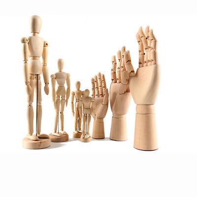 Wooden Artist Articulated Women Hand Model Sculpture Flexible Jointed Mannequin