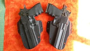 DEADPOOL HOLSTERS L & R BLACK CARBON FIBER KYDEX FITS DESERT EAGLE 357 44 50