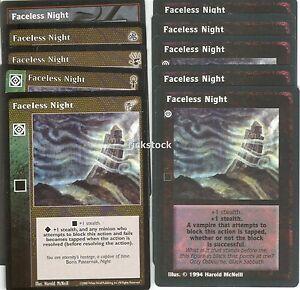 Faceless Night x10 3rd Ed CE BH KMW VTES Jyhad
