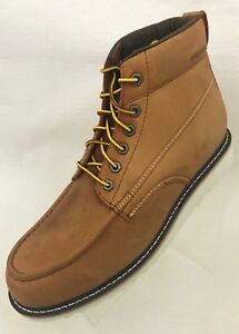 75a539535db Details about Wolverine 1883 Ranger Ankle Boots Mens Moc Toe Amber Nubuck  Lace Up W40375 NEW