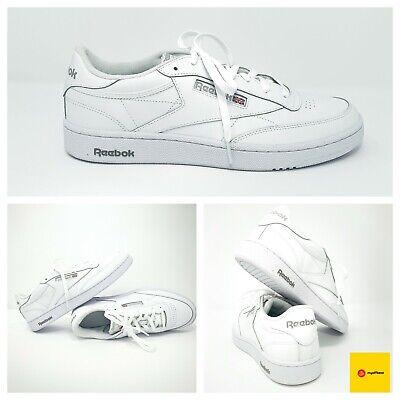 Reebok Men Mens Classics Club C 85 White Vintage sneakers US Size 12 | eBay