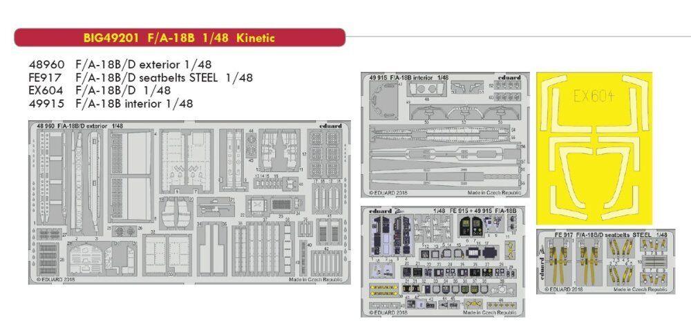Eduard big ed 49201 1   48 mcdonnell douglas f   a-18b frelon kinetische
