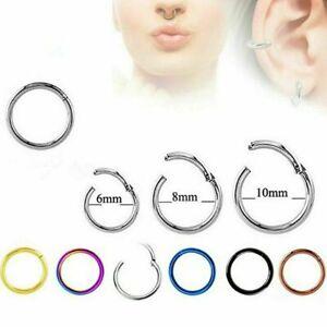 1x-Hinged-Segment-Hoop-Surgical-Steel-Septum-Labret-Nose-Ring-Cartilage-Earring
