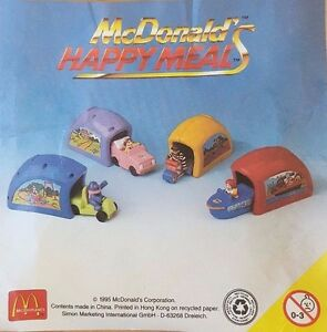 McDonalds-Happy-Meal-Toy-1996-Speedsters-Plastic-Garage-Toys-Various-Colours