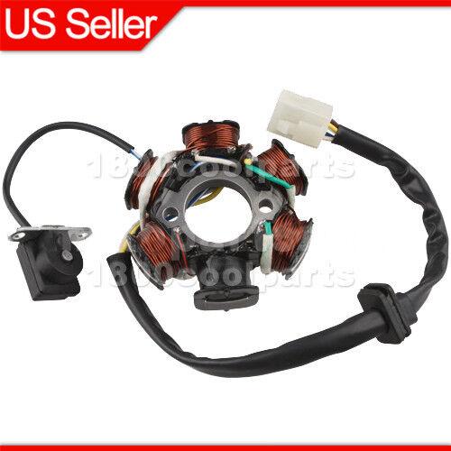 Magneto Stator 6-coil 5 wire 50cc 70cc 90cc 110cc 125cc ATV Quad Go Kart Buggy