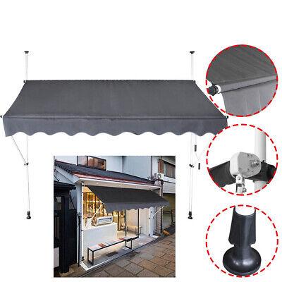 Markise Einziehbar 150-350cm Sonnenschutz Klemmmarkise Balkonmarkise Terrasse DE