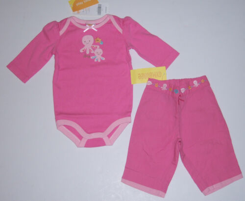 NWT Gymboree Under the Sea 0-3 Months Pink Octopus Pants /& Bodysuit