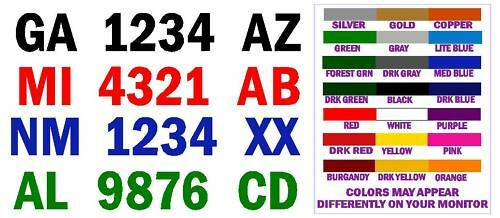 FREE SHIPPIN BOAT REGISTRATION NUMBER DECALS 4 INCH