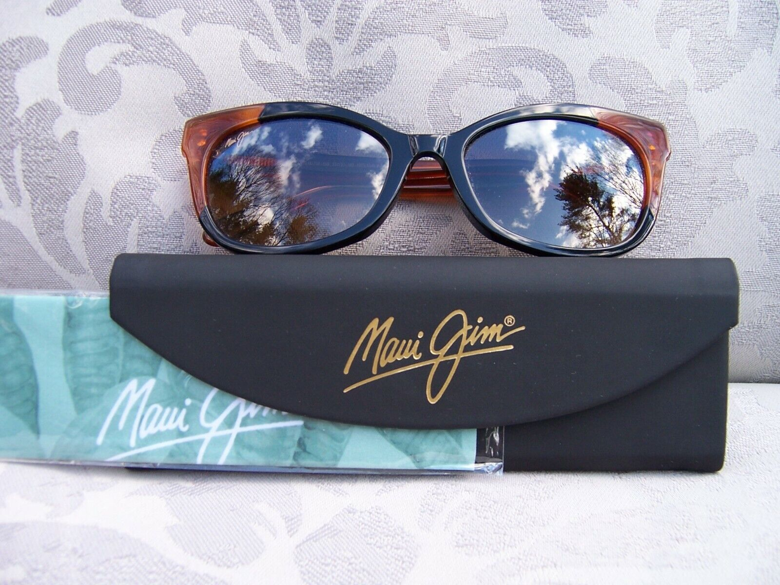 *New* MAUI JIM ILIMA Bourbon/Tortoise/HCL Bronze Polarized Sunglasses HS759-59B