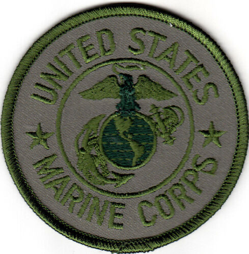 "DUTY-Iron On Patch PATRIOTIC /""UNITED STATES MARINE CORPS/"" GREEN - MILITARY"