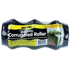 UNi-PRO CORRUGATED ROLLER COVER 230mm BLACK Foam Water & Oil Based *Aust Brand
