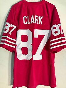 sports shoes bf224 1c8c8 Details about Mitchell and Ness Authentic NFL Jersey 49ers Dwight Clark Red  Throwback sz 56