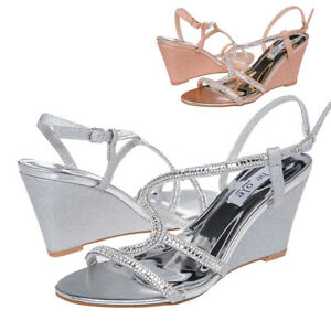 5cc94aa2acf4a SheSole Womens Dress Sandals Wedge Mid High Heels Bridal Wedding ...