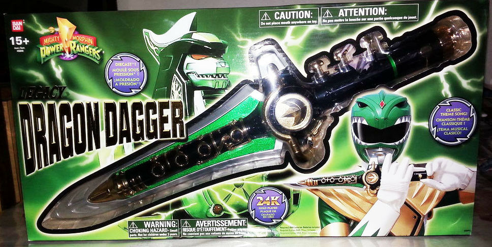 NEW SEALED Mighty Morphin Power Rangers legacy Grün ranger dragon dagger mmpr