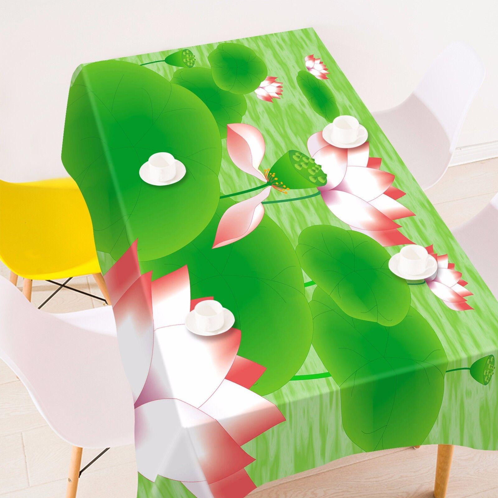 3D Lotu Seed Tablecloth Table Cover Cloth Birthday Party AJ WALLPAPER UK Lemon