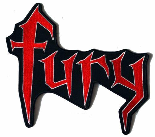 Fury XL Red IRON ON PATCH Aufnäher Parche brodé patche toppa V-Twin honda choppe