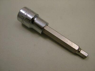 "Hex allen key bit socket ex.long 100mm 1//2/""drive 14mm Endura industrial quality"