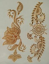 GT08--Temporary Flash Gold Jewelry Tattoo- Flower Henna Style