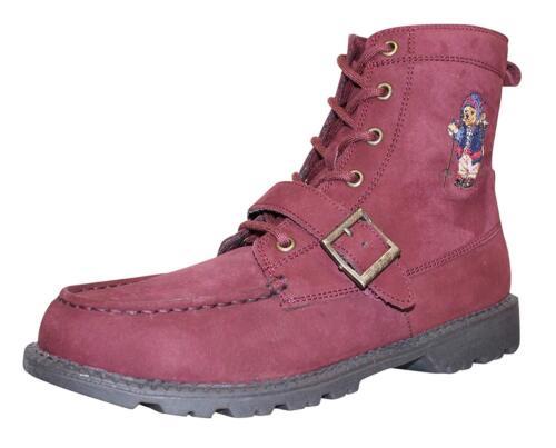 Polo Ralph Lauren Kids Ranger Hi Ii Fashion Boot-Burgundy Nubuck