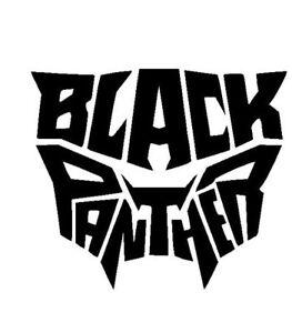 black panther name logo vinyl decal sticker free shipping window
