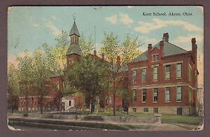 Kent-School-Akron-Ohio-c1910-Postcard