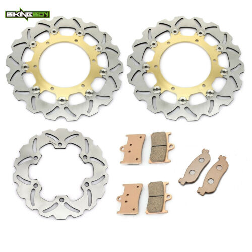Front Rear Brake Discs Rotors Pads for Yamaha YZF R1 02 03 YZF R6 99 2000 01 02