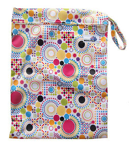 Colorful Sea Creatures Large Zip Dry /& Wet Bag Baby Cloth Nappies Waterproof