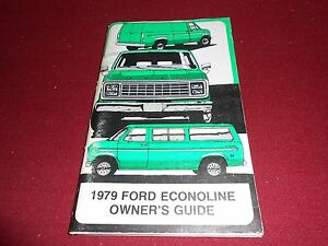 ford econoline van  club wagon owner manual