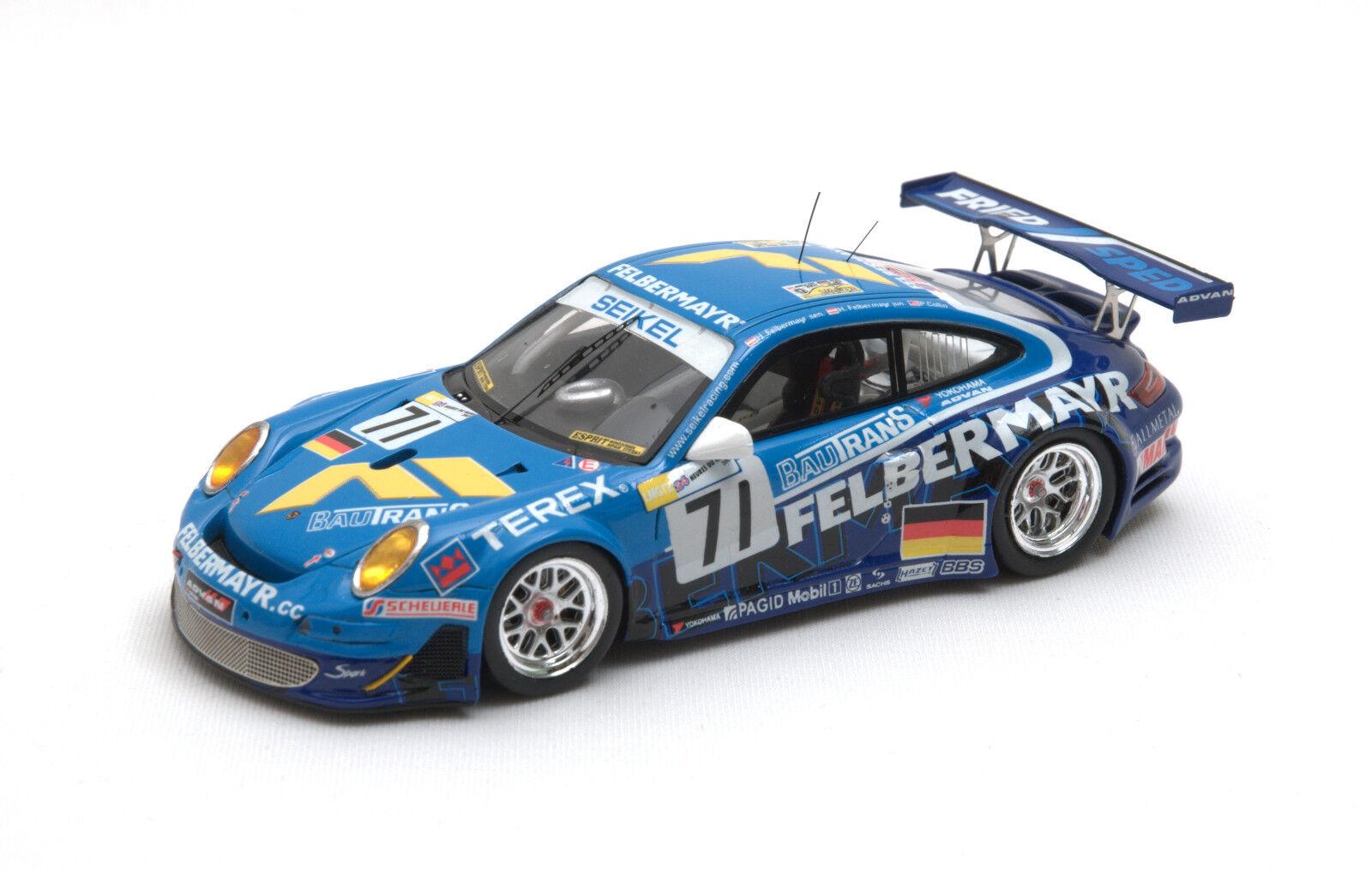 diseño simple y generoso Spark Model 1 43 Porsche 997 GT3 GT3 GT3 RSR equipo SEIKEL MOTORSPORT LM 2007 S1902  sin usar en caja   precios razonables
