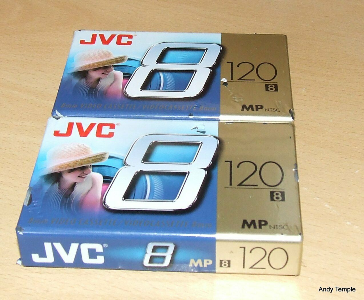 2 x JVC P6-120 MP 8mm Video Cassettes Still Sealed + 1 Other