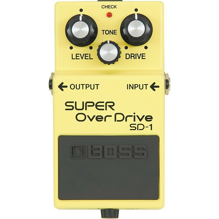 BOSS SUPER OVERDRIVE SD-1  808 braun MOD