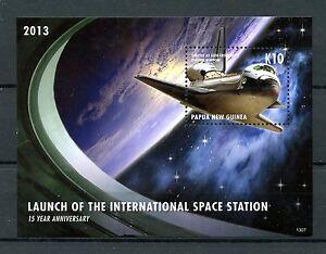 Papua-Nuova-Guinea-2013-Gomma-integra-non-linguellato-LANCIO-INT-Space-Station-1v-S-S-SHUTTLE