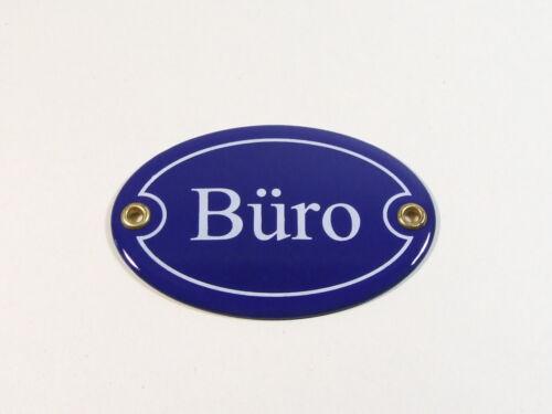 Email Emaille Büro Türschild Oval Blau Weiß Metallschild 10cm x 7cm