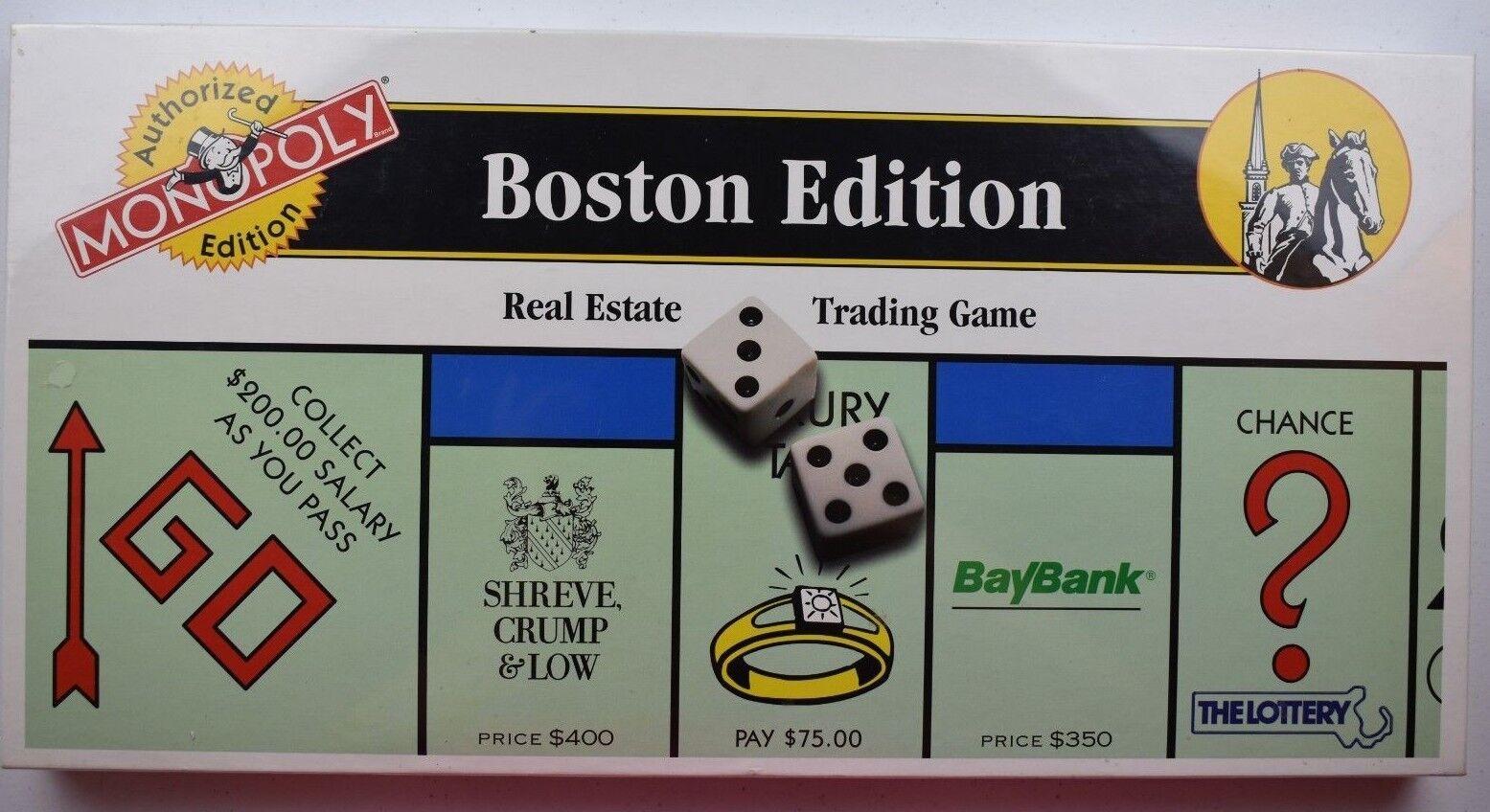 Monopol boston ausgabe immobilien - handel brettspiel 1995 parker br neue versiegelt