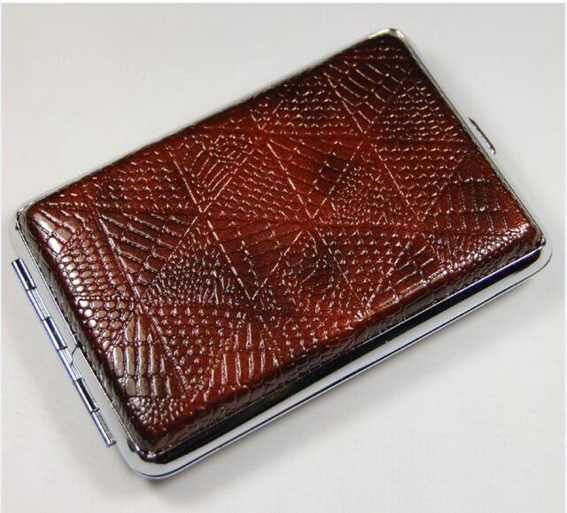 High quality Pocket Leather Cigarette Tobacco Case Box Holder 12pcs YH04-03