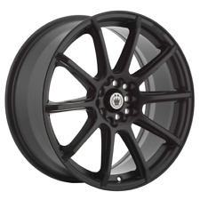 "SET (4) 17X7 +45 5X100/114.3 KONIG CONTROL BLACK WHEELS/RIMS 17""INCH 78102"